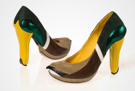 ördek şeklinde ayakkabı