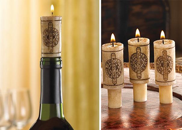 Şarap tıpası yaratıcı mumluk